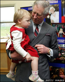 Prince Charles at RAF Valley