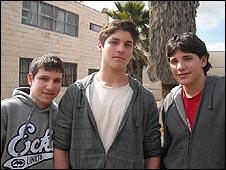 Jewish settlers Matan Dansker, Ari Ehrlich and Yadin Gellman