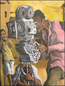 Hyppolyte Delavolta's painting of an African cineaste