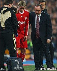 Fernando Torres picked up an injury against Real Madrid last week