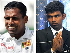 Sri Lankan cricketers Thilan Samaraweera and Tharanga Paranavitana 