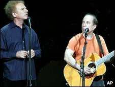 Simon and Garfunkel on their last tour in 2004