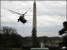 Marine One lands on the White House lawn