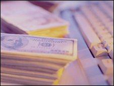 Money and keyboard, Eyewire