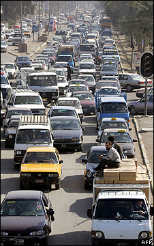 Baghdad traffic jam - Feb 2005