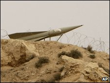 A missile placement at Iran's Bushehr plant