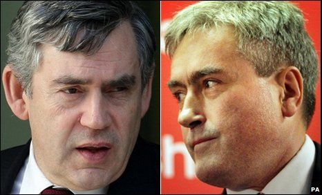 Gordon Brown and Iain Gray