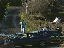 The teenagers' bodies were found along a country road