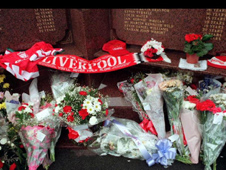 Floral tribute for Hillsborough fans