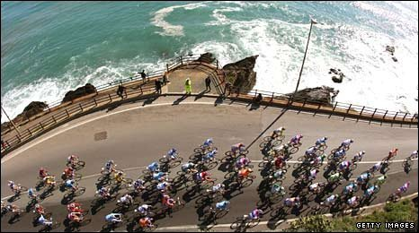 The coastal Milan-San Remo