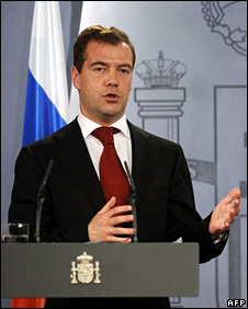 Dmitry Medvedev in Madrid (3 March 2009)