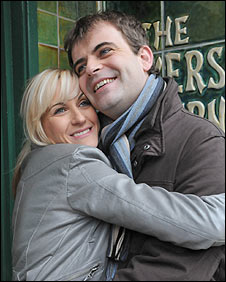 Becky and Steve in Coronation Street