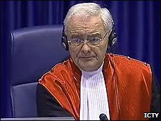 Judge Iain Bonhomy in The Hague - image from ICTY (03/03/2009)