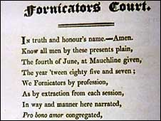 The Fornicator's Court by Robert Burns