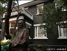A statue of John Rabe outside his former home in Nanjing