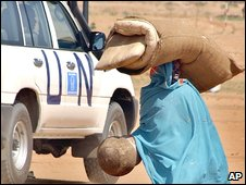 File. Sudanese woman in north Darfur (August 2004)