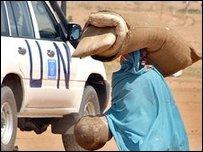 Суданская женщина в Дарфуре