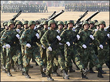 Chinese soldiers training - 12/1/2009
