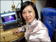 Migrant worker and NPC representative Hu Xiaoyan