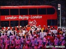 London bus in Beijing