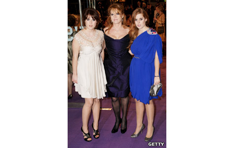 Princess Beatrice, The Duchess of York Sarah Ferguson and Princess Eugenie