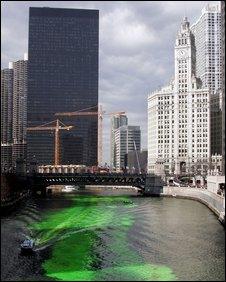 Chicago river dye