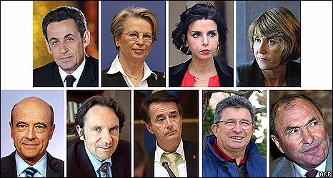 Politicians targeted: French President Nicolas Sarkozy, Interior Minister Michele Alliot-Marie, Justice Minister Rachida Dati, Culture Minister Christine Albanel, former Prime Minister and Bordeaux Mayor Alain Juppe, Perpignan Mayor Jean-Paul Alduy, deputy senators Raymond Couderc and Jacques Blanc