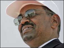 Sudanese President Omar al-Bashir on 3 March 2009