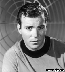William Shatner as Captain James T Kirk in 1967
