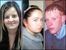 Rebecca Lee, Rebecca Lee, Elin Rowlands and Clifford Jones were killed