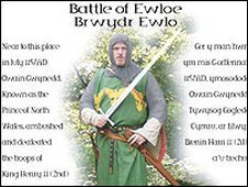 Battle of Ewloe plaque