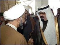 الملك عبدالله والشيخ حسن الصفار