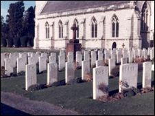 Soldiers' graves at St Margaret's church