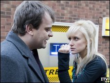 Steve and Becky in Coronation Street