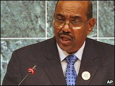 Omar al-Bashir in Qatar, 29 Nov 2008