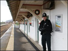 Pc Smith at Penmaenmawr railway station
