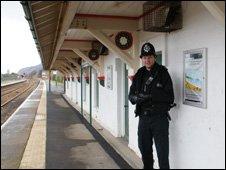 Pc Smith at Penmaenmawr railway station