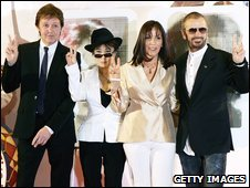 Sir Paul McCartney, Yoko Ono, Olivia Harrison and Ringo Starr in 2007
