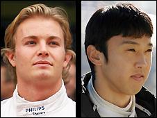 Nico Rosberg and Kazuki Nakajima