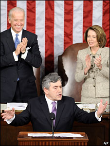 Gordon Brown addresses a joint session of the US Congress, 4 March 2009