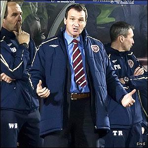 Hearts manager Csaba Laszlo