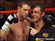Enzo Maccarinelli and Joe Calzaghe