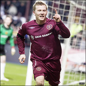 Andy Driver celebrates his goal