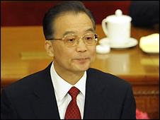 Wen Jiabao addressing National People's Congress - 5/3/2009
