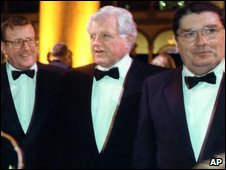 David Trimble, Edward Kennedy and John Hume