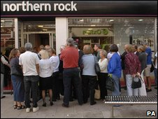 Northern Rock branch during the 2007 &quot;run&quot;