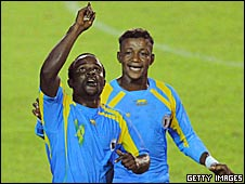 DR Congo players celebrate victory