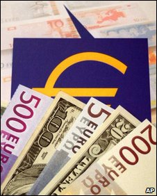 Euros and dollars, AP