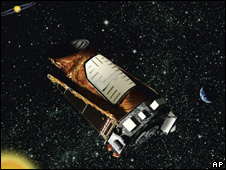 artist's impression of Kepler mission