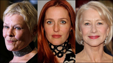 Dame Judi Dench, Gillian Anderson and Dame Helen Mirren